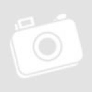 Asztali kínáló üveg levél aranyozott 24x18x3cm zöld