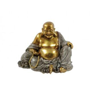 Buddha barna/arany 17cm