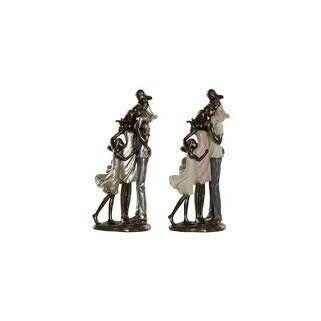 Család figura, Apa nyakában gyerekkel 12,5x10,5x28cm