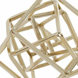 Dekoráció fém négyzetek aranyozott 19x19x38cm