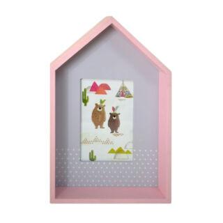 Fa ház képkeret,dekoros 19x29,5x5,5cm