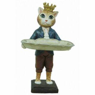 Figura macska fiú15x12x29cm
