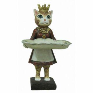 Figura macska lány15x12x29cm