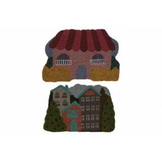 Lábtörlő kókuszrost 60x40cm Ház formájú színes