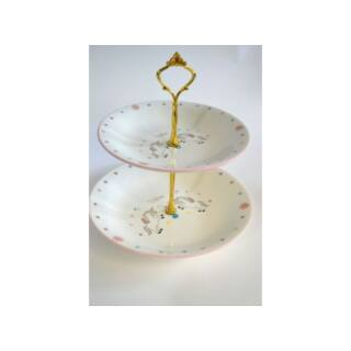Süteménykínáló kerámia 2 szintes 25cm/24,5cm M:23,4 Unikornis