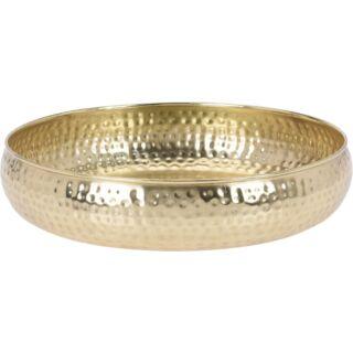 Tál fém arany 30x30x6,5cm