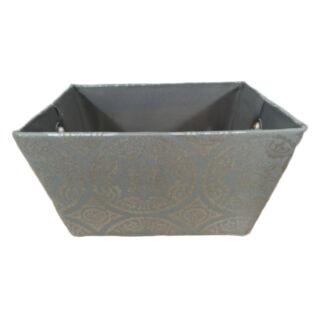 Textil doboz szürke mintás 35x25x20cm