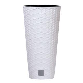Virágcserép 200 mm Fehér Rato Tubus Prosperplast