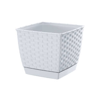 Virágcserép 220 mm Fehér RATOLLA square Prosperplast