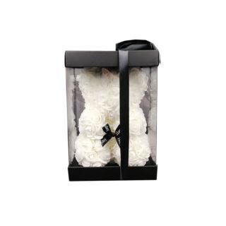 Rózsamaci 24cm díszdobozban - Fehér