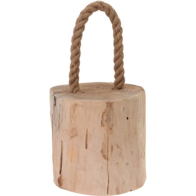 Ajtótámasztó kötéllel fából