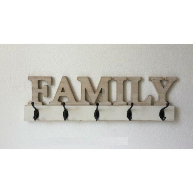 Aksztó fém,mdf 59x7,6x18cm FAMILY