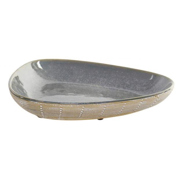 Asztali kínáló 28,5x53,5x5cm türkiz