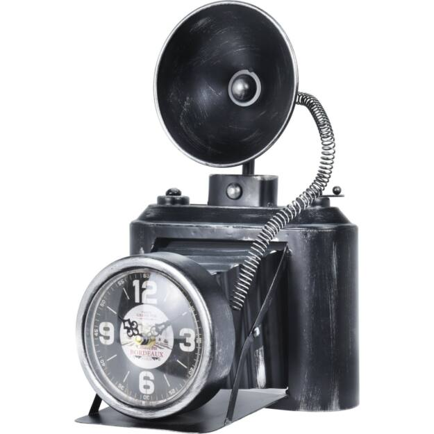 """Asztali óra """"fényképezőgép"""" fém 31x17x20cm"""