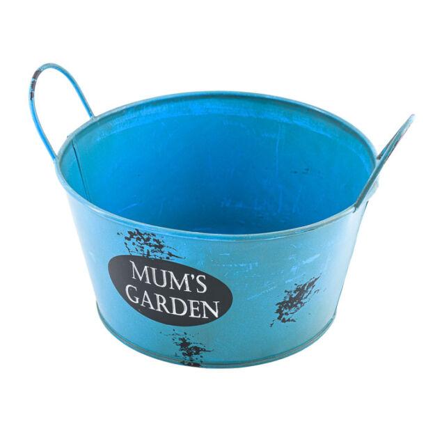 Bádog kaspó kerek Mum garden 18x14cm
