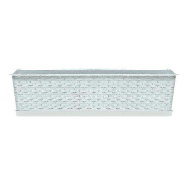 Balkonláda 391 mm Fehér RATOLLA SET Prosperplast