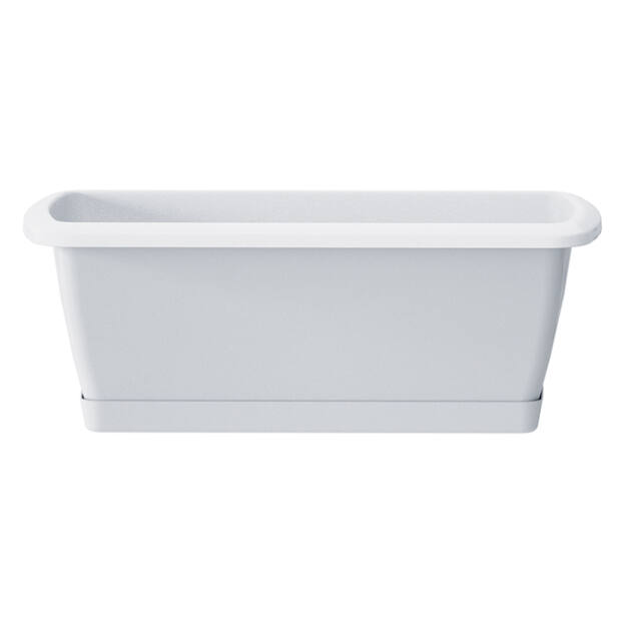 Balkonláda+ alátét 392 mm Fehér RESPANA SET Prosperplast