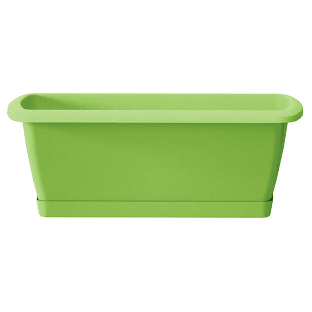 Balkonláda+ alátét 392 mm Lime RESPANA SET Prosperplast