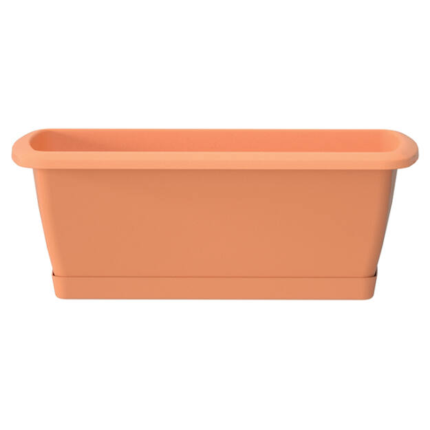 Balkonláda+ alátét 392 mm Terrakotta RESPANA SET Prosperplast