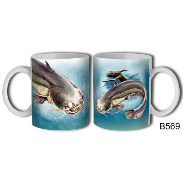 Bögre 3dl -Harcsa -ajándék horgászoknak