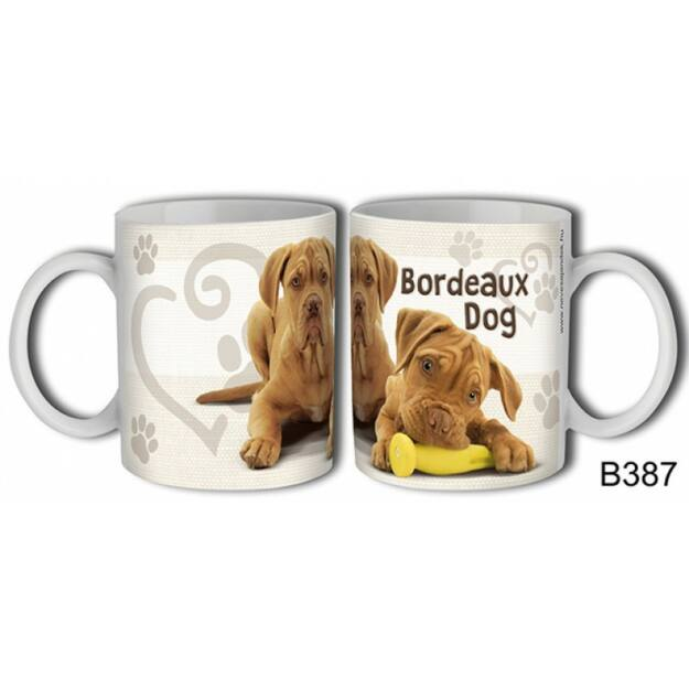 Bögre kutyás Bordeaux dog kutyás ajándék