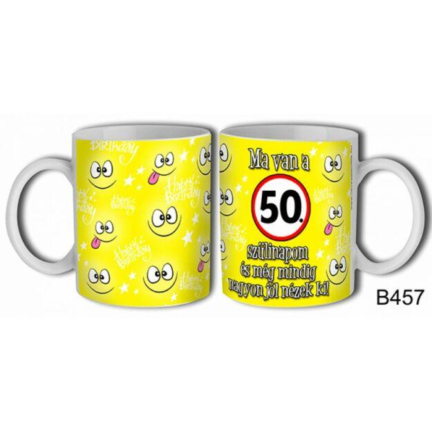 Bögre -Ma van a 50. szülinapom születésnapi ajándék