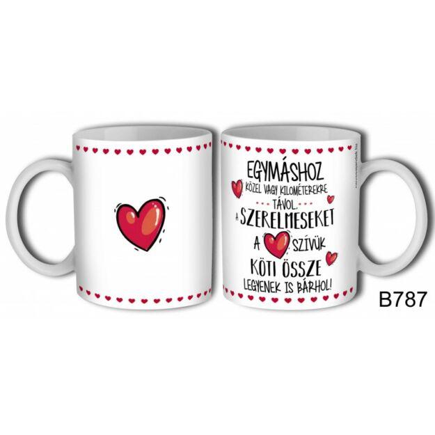 Bögre Megfogom a kezed, szerelmes ajándék valentinnapra