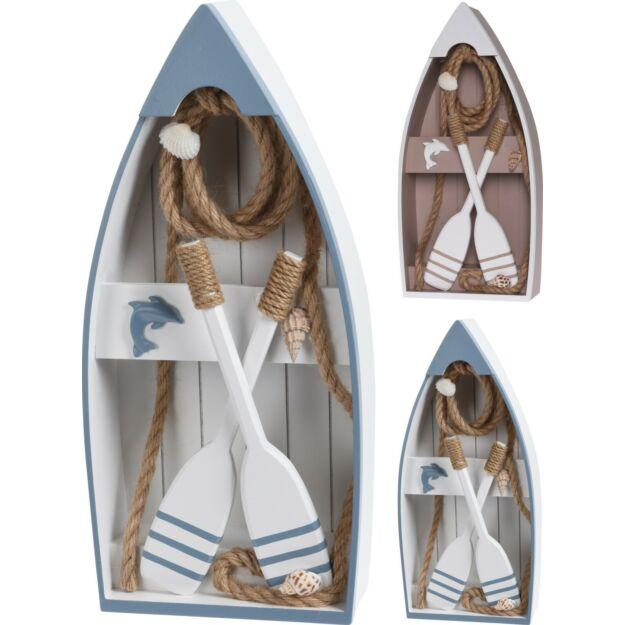 Dekorációs evezős csónak 40cm