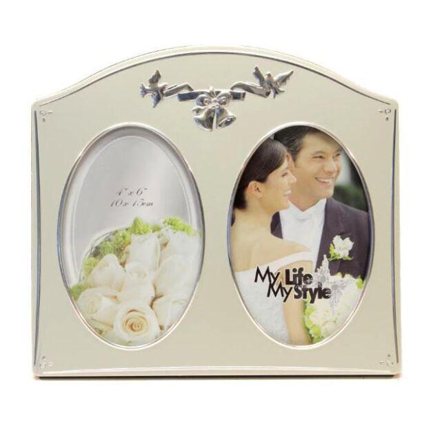 Fém képkeret esküvői 10x15 cm