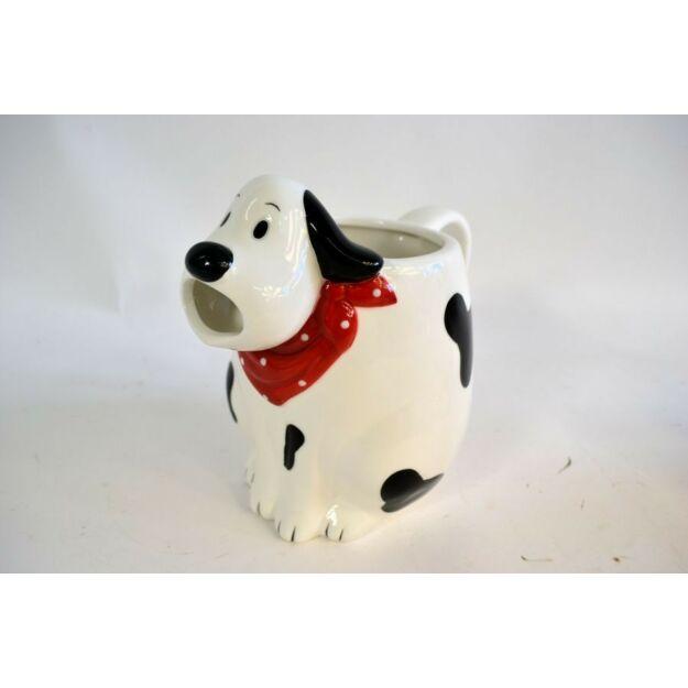 Kancsó kerámia kutyus kendővel 19,5cm