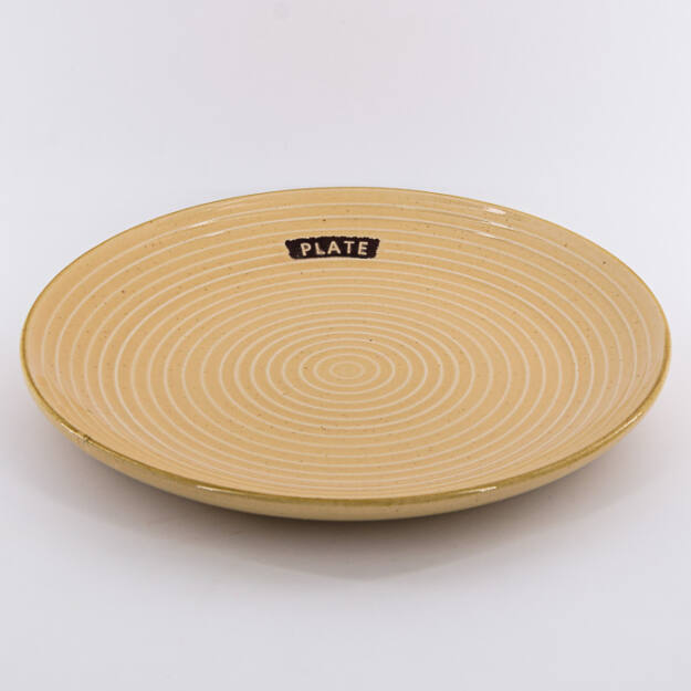 Kerámia tányér kerek krém 25cm