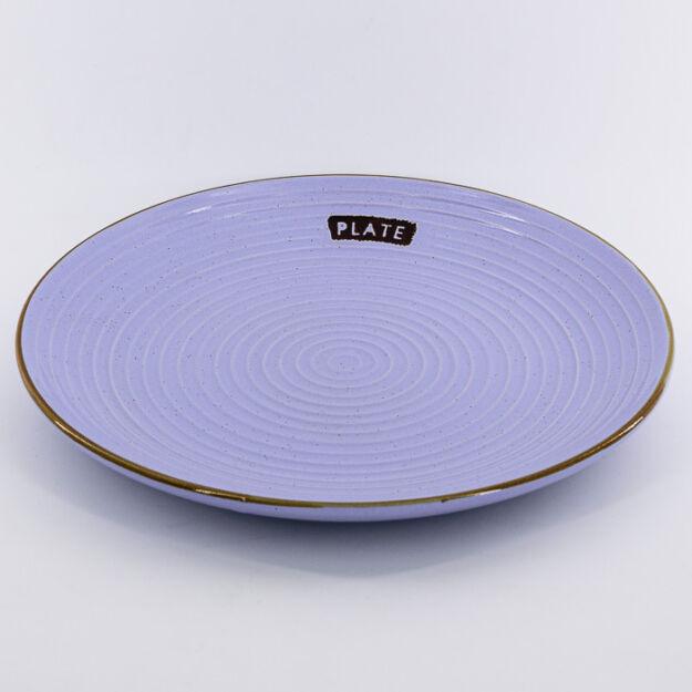 Kerámia tányér kerek levend. 25cm