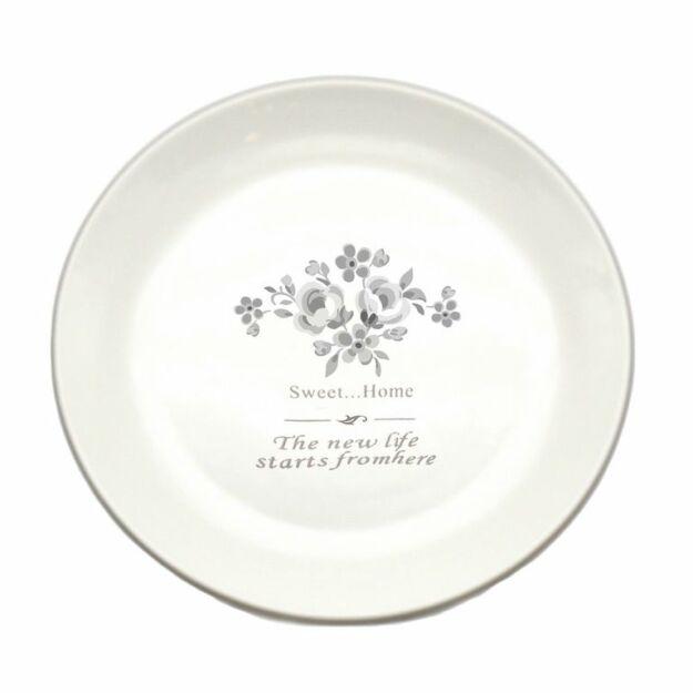 Kerámia tányér vint.flower