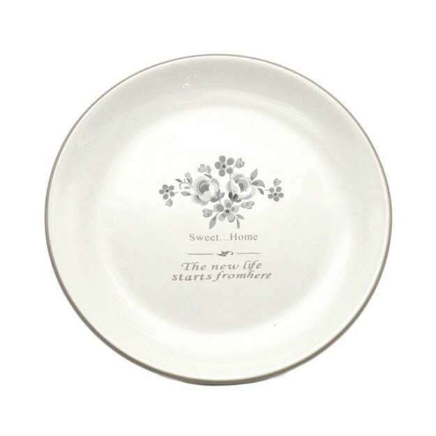 Kerámia tányér vint.flower 20cm