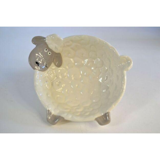 Kínálótálka kerámia 20,5x18x6cm Bárányka