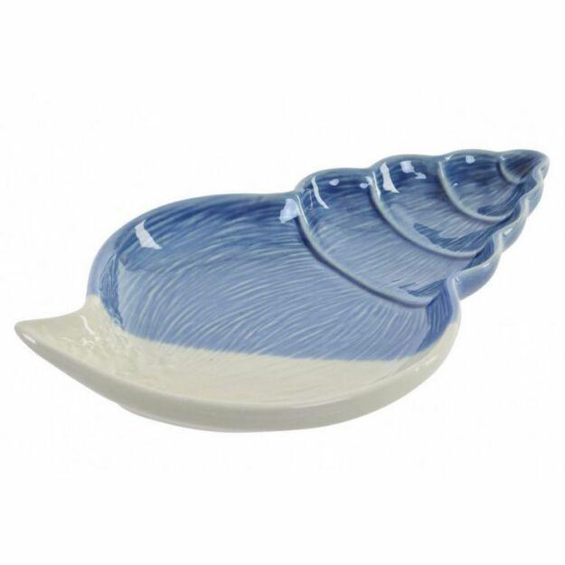 Kistálca kagylós  kék-fehér 23,2x14x2,6cm