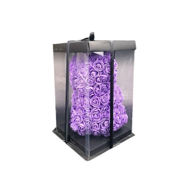 Rózsamaci 25cm díszdobozban - Lila