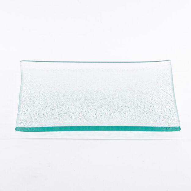 Szögletes üveg tál 11,5x11,5cm