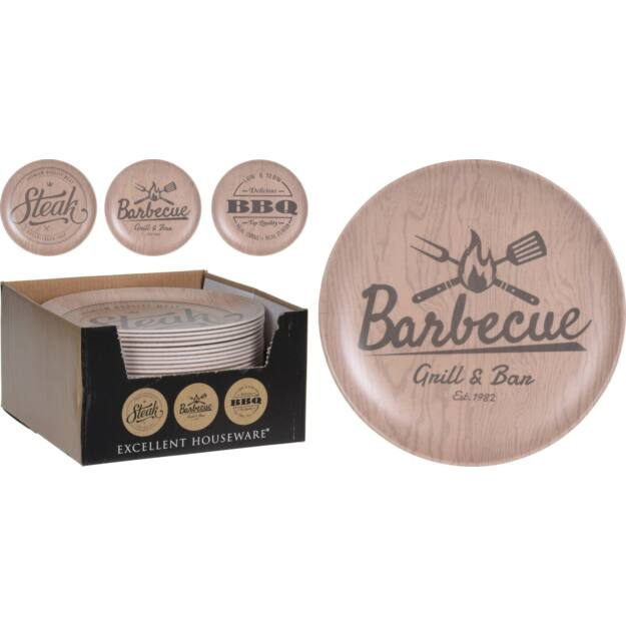 "Tál bambusz /melamin ""Barbecue"" 25cm"