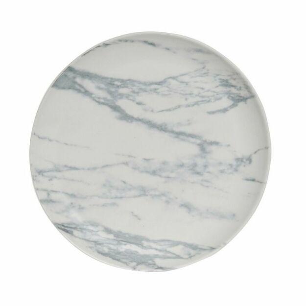 Tányér porcelán 21cm SIMIL márvány matt fehér