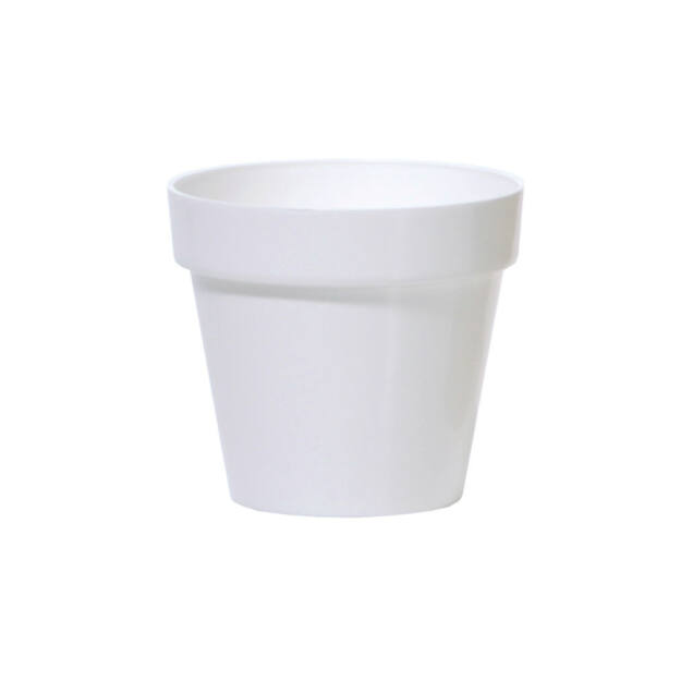 Virágcserép 110 mm Fehér Cube shine Prosperplast