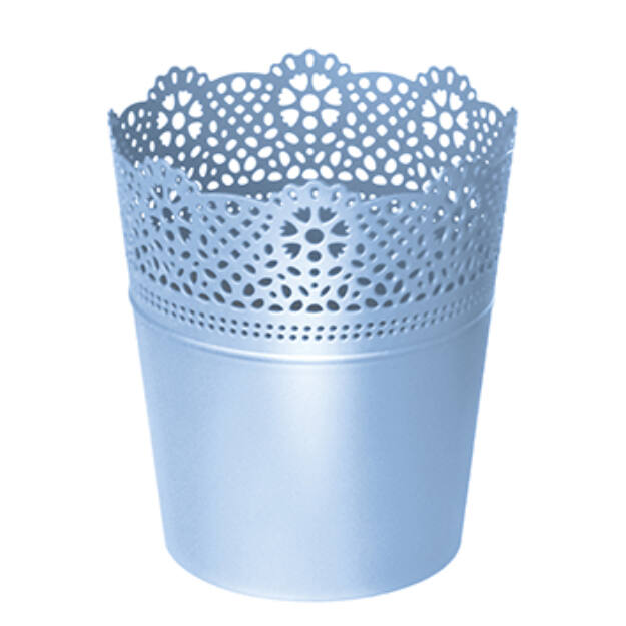 Virágcserép 112 mm Baba kék LACE Prosperplast