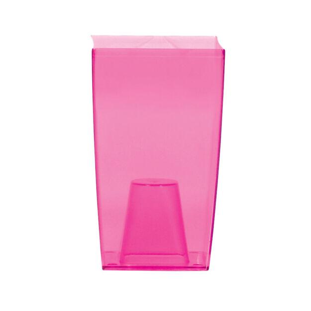 Virágcserép 120 mm Átlátszó rózsaszín COUBI Prosperplast