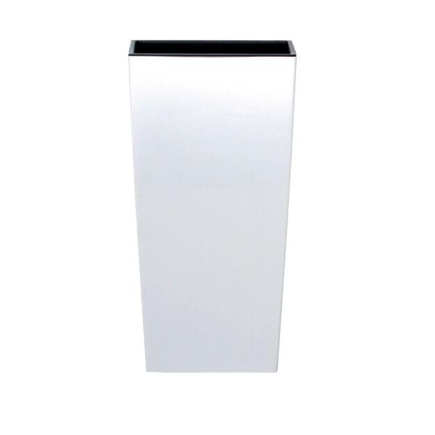 Virágcserép 126 mm Fehér Urbi square Prosperplast