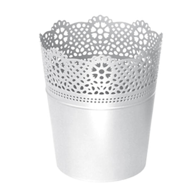 Virágcserép 135 mm Fehér LACE Prosperplast