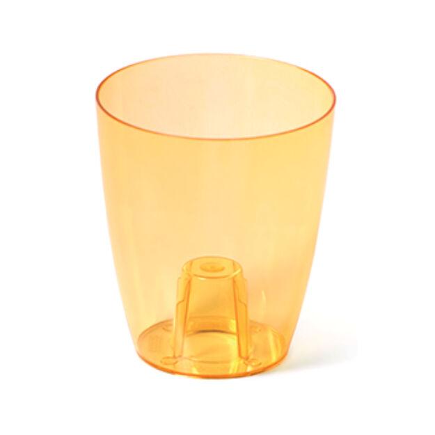 Virágcserép 160 mm Átlátszó narancs COUBI Prosperplast